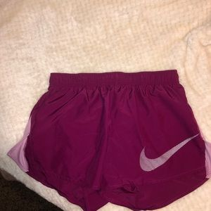 Magenta nike shorts